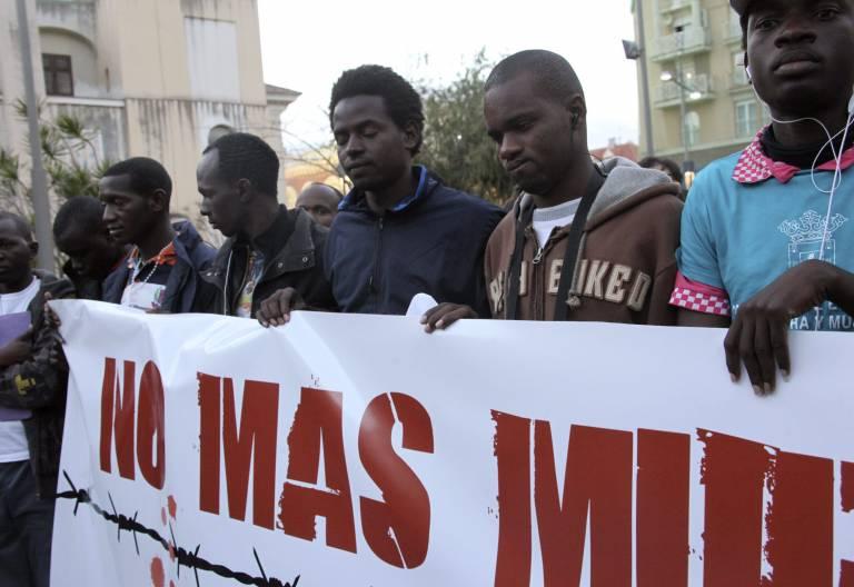 Protestas de migrantes en Ceuta