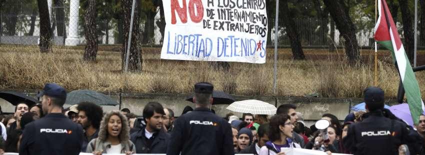 Protestas CIE Aluche