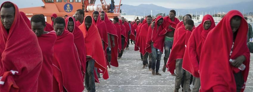 Migrantes Refugiados Patera Motril Granada