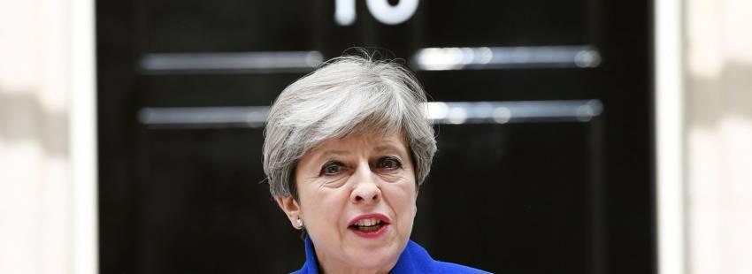 Theresa May comparece tras las elecciones del 8 de junio de 2017