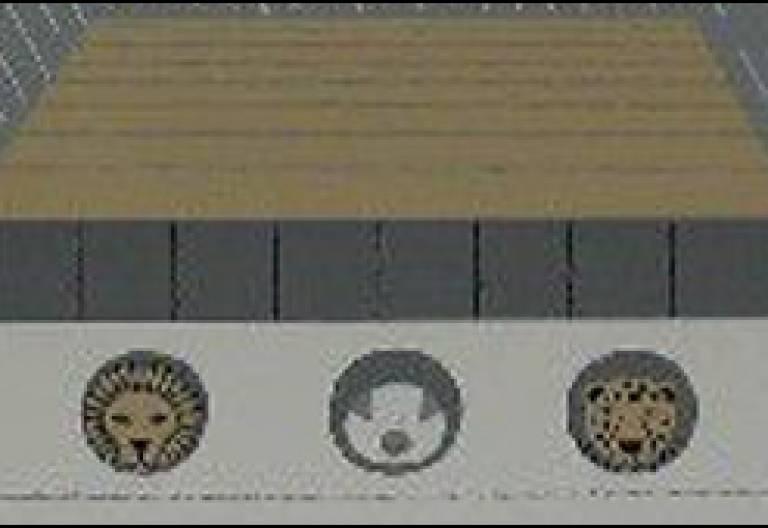 Arca de Noé, pintura de Edie Harper fragmento