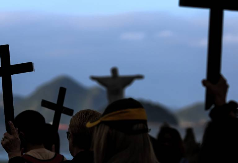 protesta en Brasil por la muerte de varios policias 2017