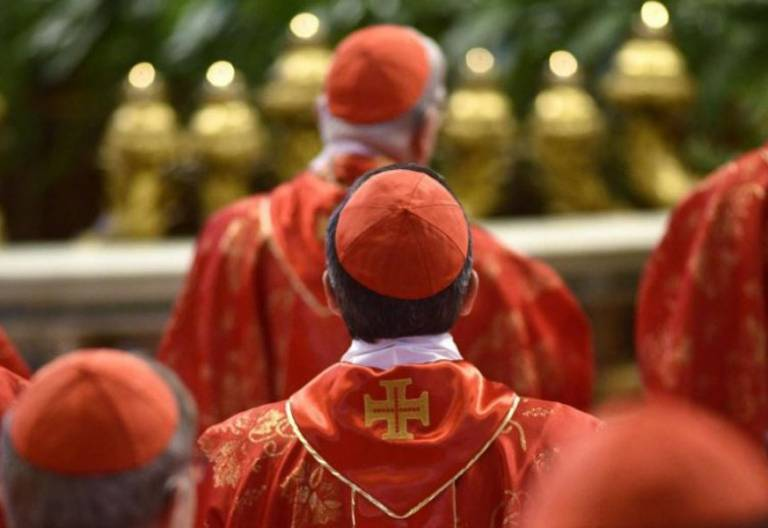 cardenales iglesia católica en una misa