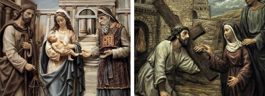 imaginería religiosa dos obras del taller de Arteaznarez