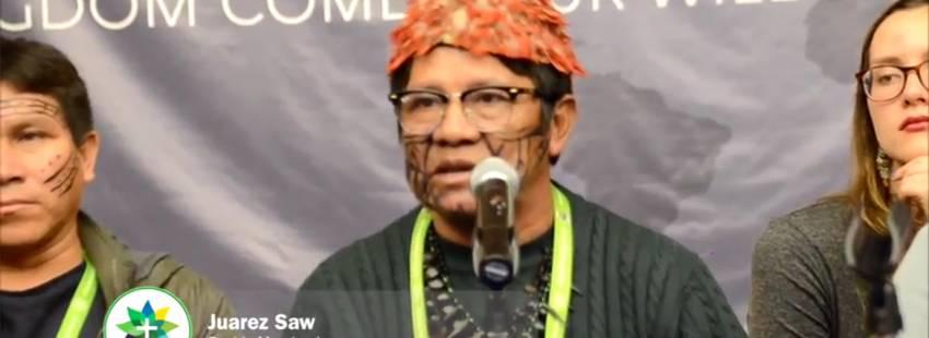 líder indígena en un vídeo de la REPAM defiende derechos de los pueblos originarios