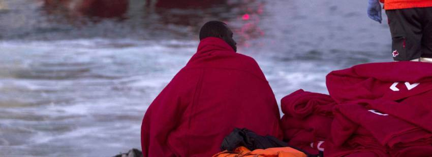 inmigrante subsahariano llegado en patera a España Málaga 2017