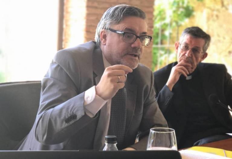 José María Contreras Mazarío, en los IV Diálogos de Yuste