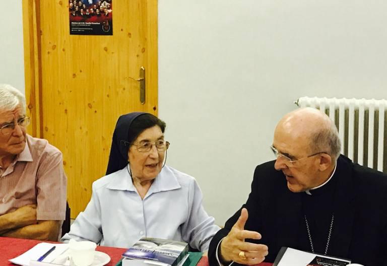 Carlos Osoro, Sor Josefina Salvo y Jaime Carlos Garvi, en la presentación de la beatificación de los mártires de la familia vicenciana Madrid 27 junio 2017