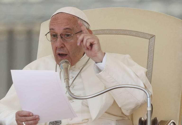 El Papa Francisco, durante una audiencia general/CNS