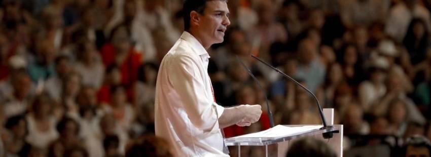 Pedro Sánchez, secretario general del PSOE, en el 39 Congreso Federal del partido/EFE