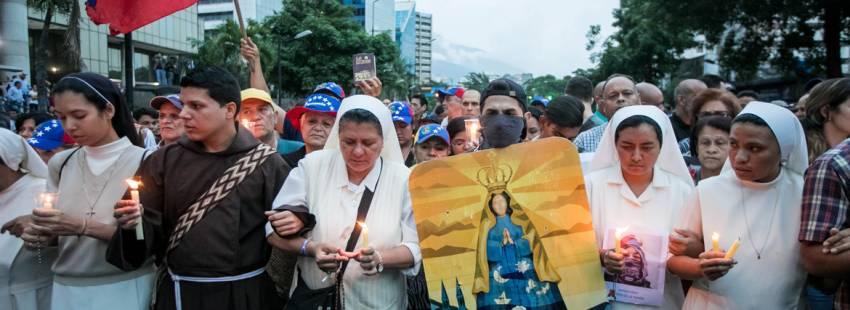 protesta de religiosos en Caracas Venezuela contra el gobierno de Nicolás Maduro junio 2017