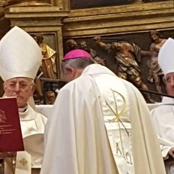 José Luis Retana nuevo obispo de Plasencia ordenado por cardenal Ricardo Blázquez