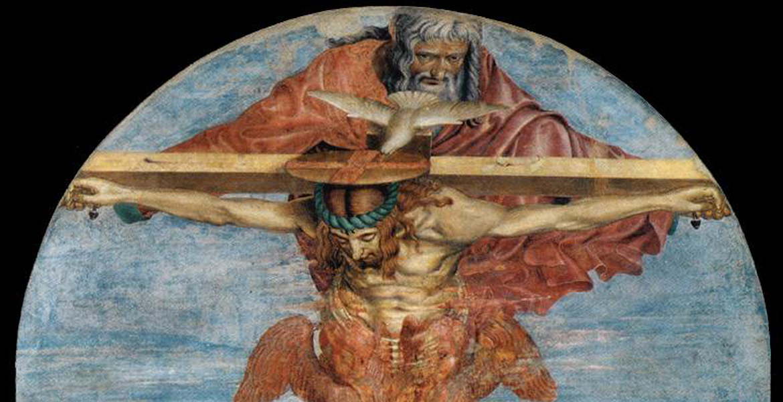 fragmento del cuadro Santísima Trinidad de Andre del Castagno