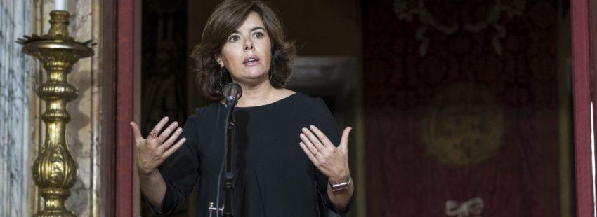 La vicepresidenta del Gobierno, Soraya Sáenz de Santamaría, en la Embajada de España ante la Santa Sede/EFE
