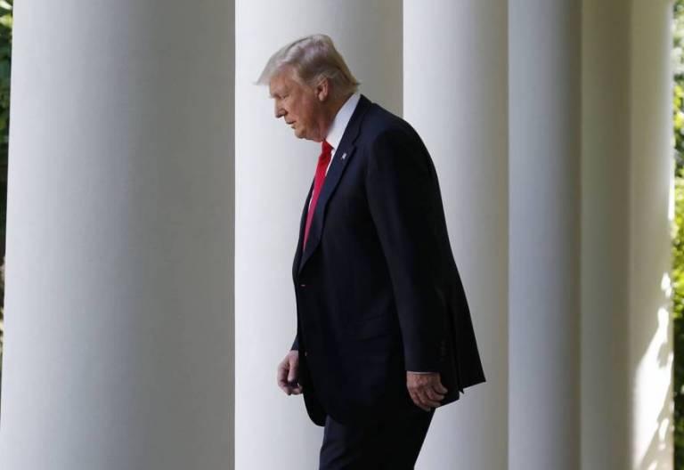 El presidente de EE UU, Donald Trump, en la Casa Blanca/CNS