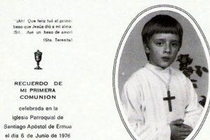 Recuerdo de Primera Comunión de Miguel Ángel Blanco ETA