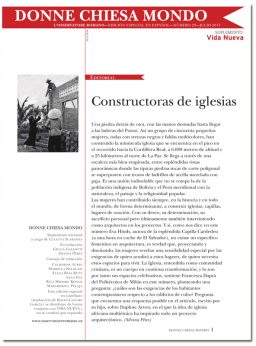 portadad Donne Chiesa Mondo mujeres y arquitectura 3046 julio 2017