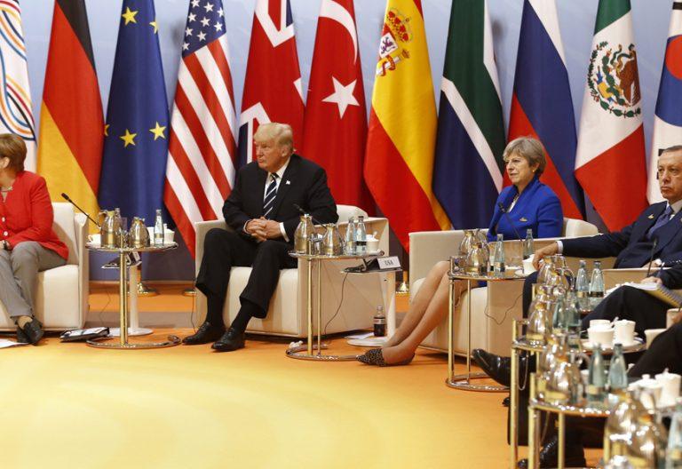 líderes políticos cumbre G-20 Hamburgo julio 2017