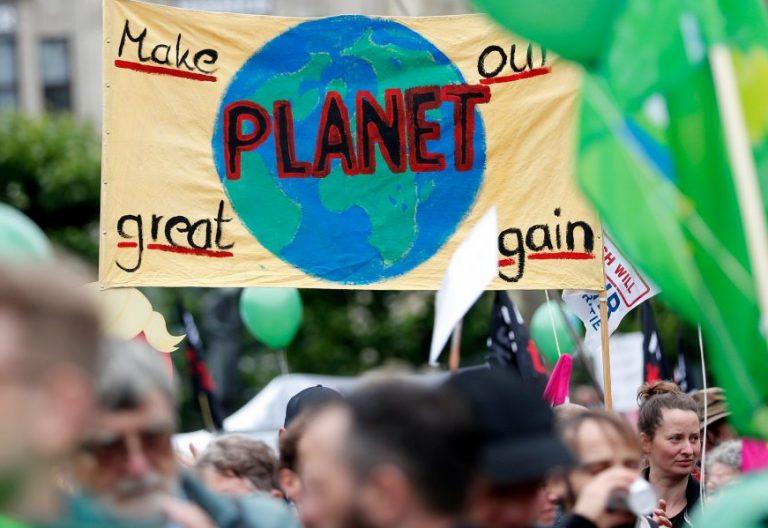 Protestas en Hamburgo (Alemania) por la cumbre del G-20 celebrada en julio de 2017/EFE