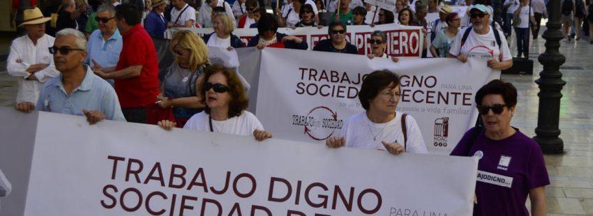 Manifestación de la HOAC en Málaga