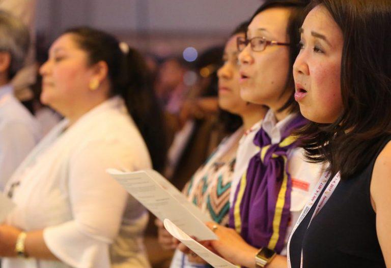 Un grupo de mujeres en una eucaristía de la I Asamblea de Líderes Católicos en Orlando/CNS