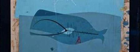 la ballena de Jonás, cuadro de Charlie Harper fragmento