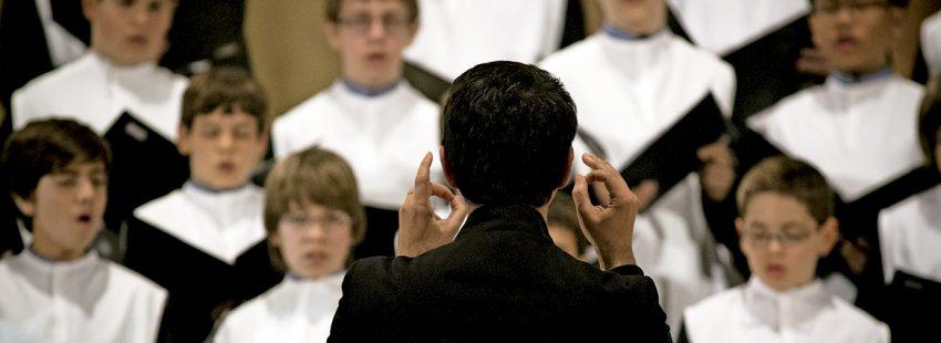coral niños coro escolanía Abadía de Montserrat