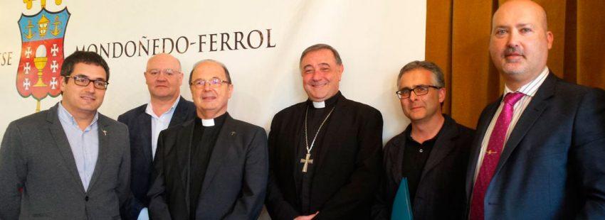 Luis Ángel de las Heras, en la presentación de los nombramientos diocesanos obispo Mondoñedo-Ferrol 30 junio 2017