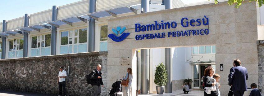 fachada del hospital pediátrico Bambino Gesù Roma Santa Sede
