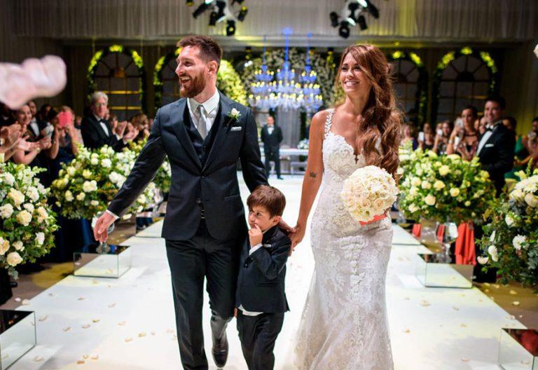 Leo Messi y Antonella Roccuzzo, en su boda 30 junio 2017