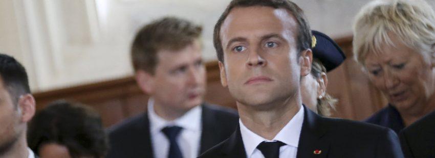 Emmanuel Macron presidente Francia misa homenaje al P. Jacques Hamel primer aniversario de su asesinato por el Estado Islámico