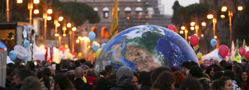 Roma marcha contra el cambio climático 2015