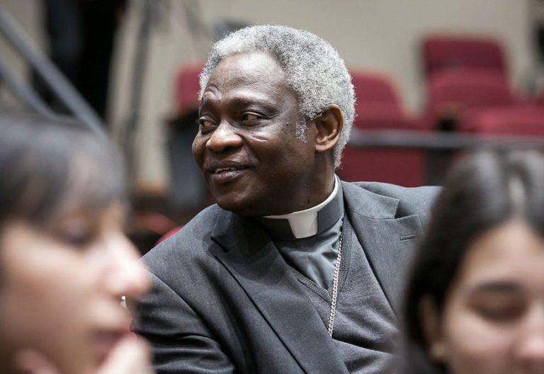 El cardenal Peter Turkson, prefecto de la Congregación para el Desarrollo Humano Integral Ghana archivo