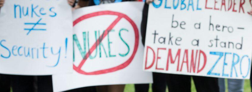 protesta en Washington contra las armas nucleares