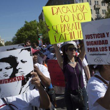Protesta en defensa de los derechos de los migrantes en Washington en 2016/CNS