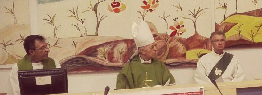 El cardenal Ricardo Blázquez en la Asamblea del Movimiento Mundial de Trabajadores Cristianos