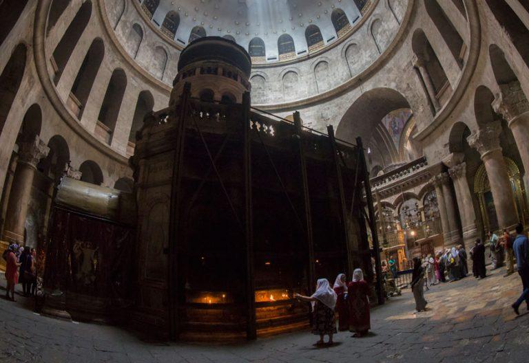 Una vista del Santo Sepulcro Jerusalem Tierra Santa