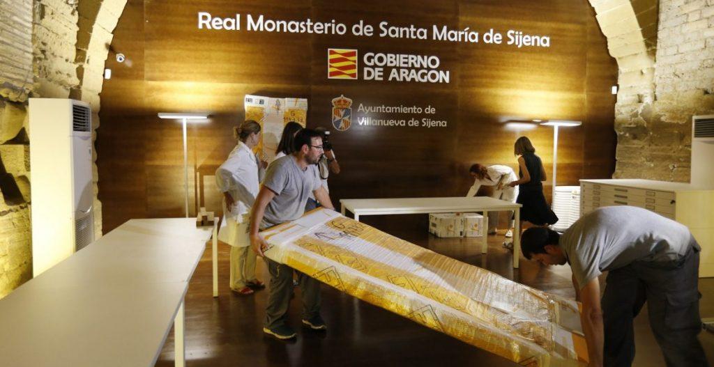 Algunos de los bienes de Sijena devueltos por la Generalitat al Gobierno de Aragón/EFE