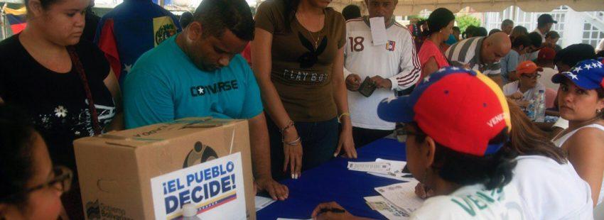 oposición Venezuela convoca referéndum contra la propuesta de Asamblea Constituyente de Nicolás Maduro
