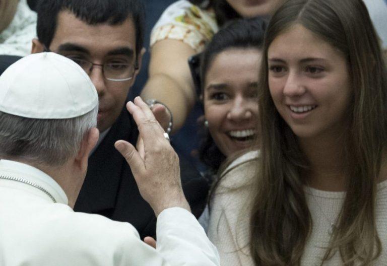 Francisco, en una audiencia en el aula Pablo VI/EFE