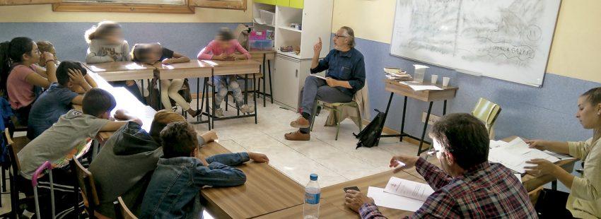 taller de lectura Escribir como lectores en la Cañada Real Madrid Fundación SM y AELE
