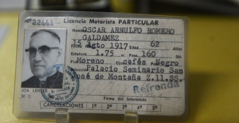 El carné de conducir de Óscar Romero, expuesto en el Museo del beato/CNS