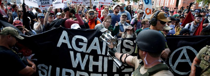Protestas en Virginia tras los incidentes racistas de Charlottesville Estados Unidos
