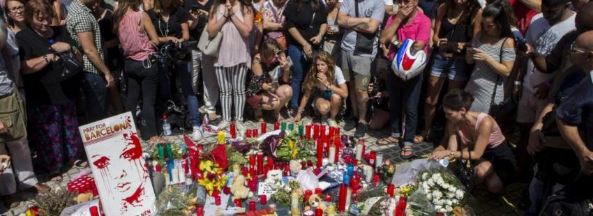 Concentración en las Ramblas, tras el atentado en Barcelona/EFE