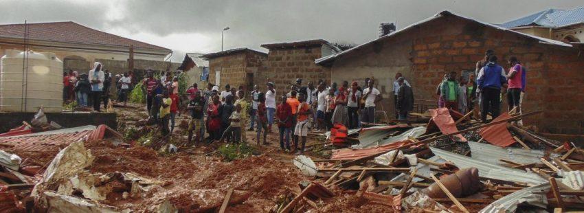 Los efectos devastadores de las inundaciones en Freetown-Sierra Leona/EFE