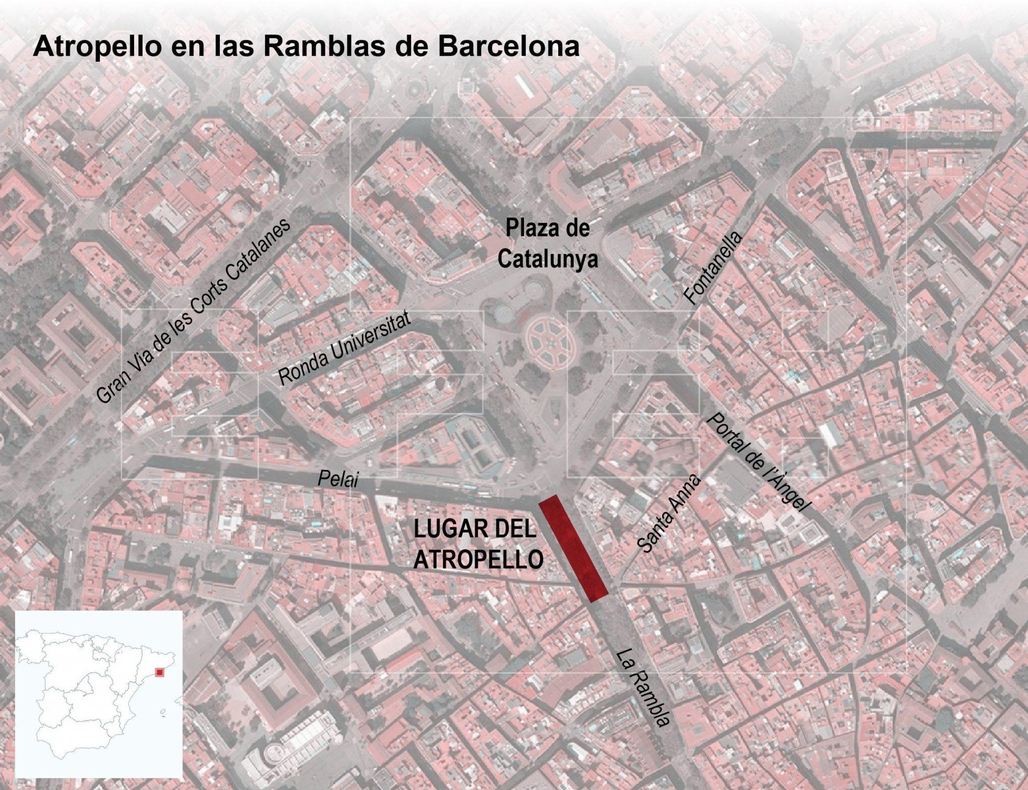 Así ha sido el ataque terrorista de Barcelona/EFE