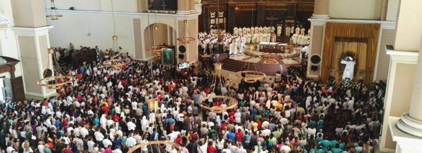Eucaristía en la catedral de San Salvador con motivo del centenario del nacimiento de Óscar Romero