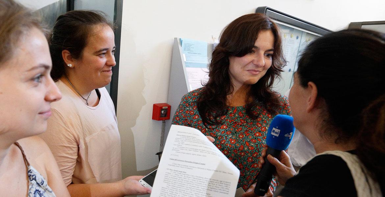 Paloma García Ovejero atiende a los medios Oficina de Prensa de la Santa Sede