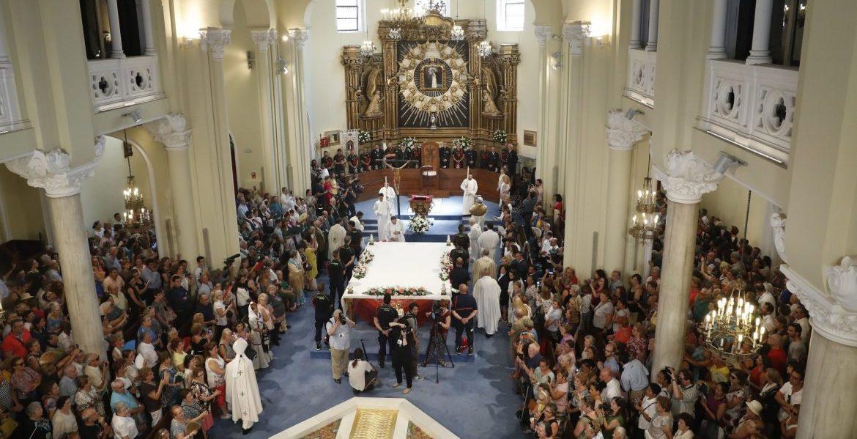 Vista de la Misa solemne en honor a la Virgen de la Paloma, presidida por el cardenal Carlos Osoro/EFE