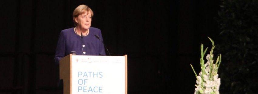 Angela Merkel, en la apertur del encuentro por la paz de SantEgidio 2017/SE